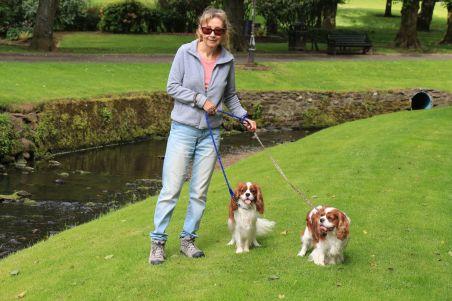 Fergus & Charlie at the park
