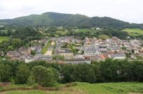 View of Mauleon from the castle