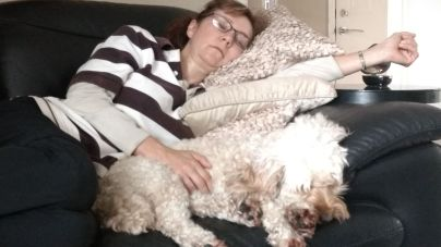 Snoozing with Lexie