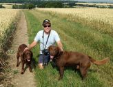 Bruno and Megan in the fields