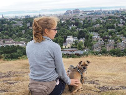 Taking in the Edinburgh skyline