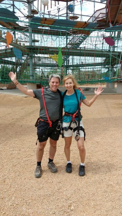 Zip lining in France